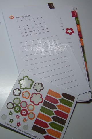Calendar inside